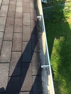 Cleaning out gutters in Aiken, SC - After Photo