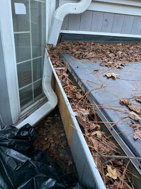 Gutter Cleaning Aiken SC - Before Photo