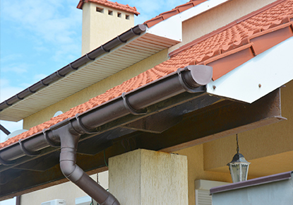New Gutters & Downspouts Installation